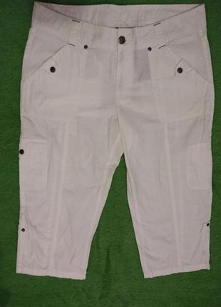Женские бриджи белого цвета х/б катон 42 размера бренда  esmara