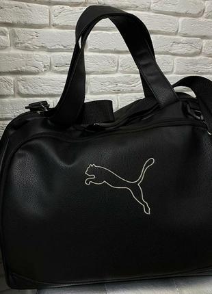 Дородная тренировочная сумка puma из екокожи