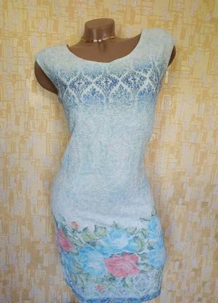 Красивое фактурное платьице