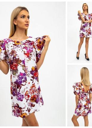 Платье женское 115r291-3 цвет бело-бордовый