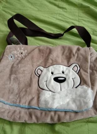 Меховая сумка nici мишка детская сумка сумка для мам