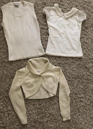 Цена за все! школьная блузка, болеро, жилетка на рост 130-140