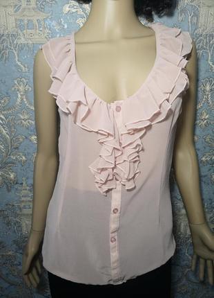 Rare италия шифоновая блуза р. s или 36