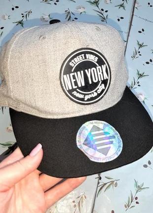 🎁1+1=3 модная серая кепка new york от h&m