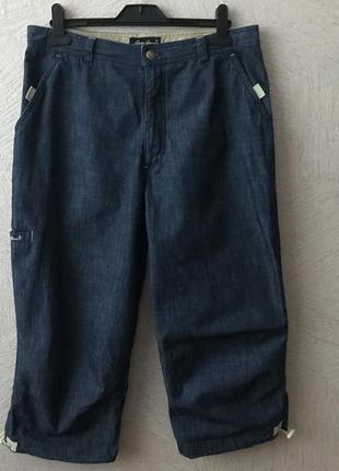 Eddie bauer -vip- стильные джинсовые бриджи сост. новых
