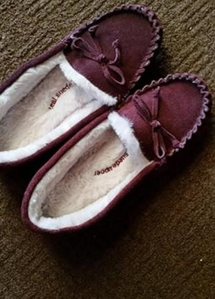 Женские замшевые мокасины suede moccasin slippers with freshfeet