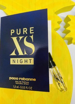 Paco rabanne pure xs night пробник оригинал