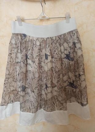 Красивая шифоновая юбка  на подкладке