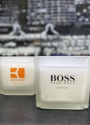 Набор ароматизированных свечей hugo boss оригинал!