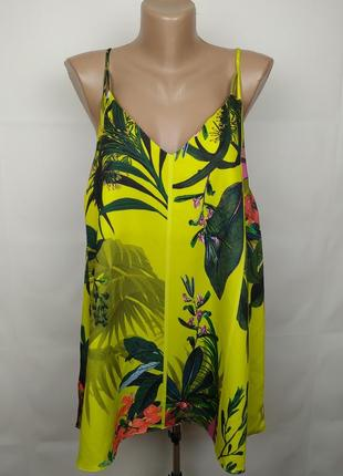 Блуза новая стильная в тропический принт большого размера next uk 20/48/3xl