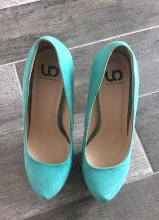 Бирюзовые туфли 38 размер