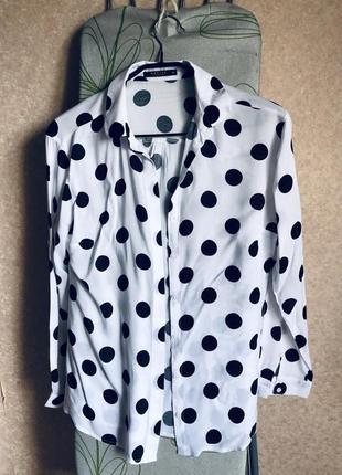 Блуза в горох размер 46