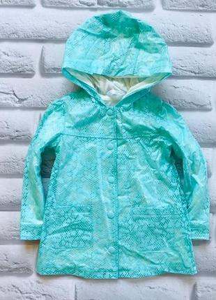 M&co стильная куртка-дождевик на девочку 18-24 мес