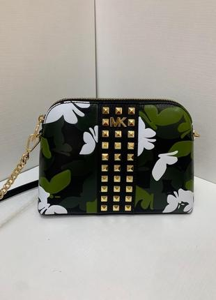Сумка michael korslarge butterfly camodome crossbody кожа оригинал