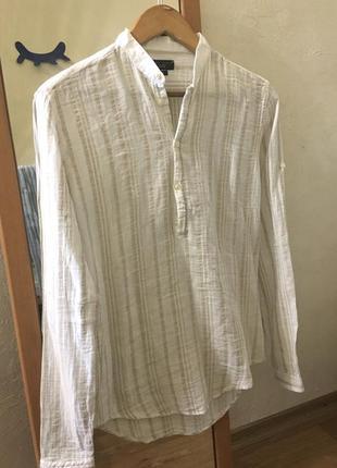 Льняная мужская рубашка z͛a͛r͛a͛