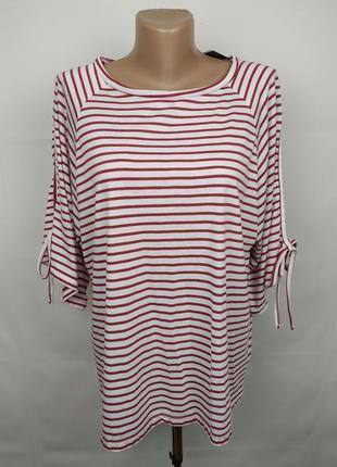 Блуза новая трикотажная стильная в полоску uk 16/44/xl