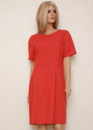 Красивое кораллово-тарракотовое платье от retro london