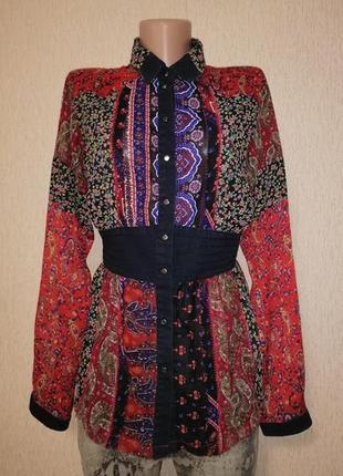 Стильная легкая женская рубашка, блузка, кофта diesel