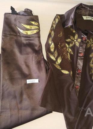 Рубашка и брюки для танцев для мальчиков на возраст 9/10 лет