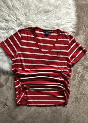 Женская коттоновая футболка polo ralph lauren