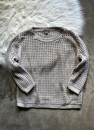 Женская стильная вязаная кружевная кофта свитер свитшот пуловер cos