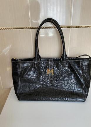 Шикарная кожаная сумка италия minnozzi