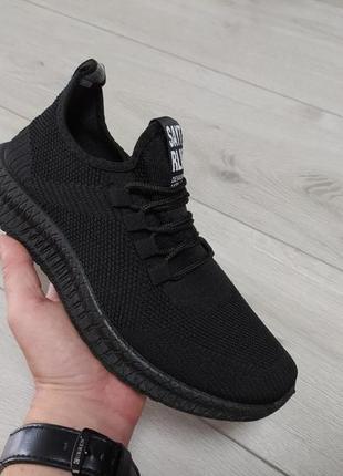 Мужские кроссовки черные 🌑
