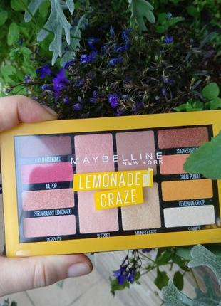 Maybelline lemonade craze новая палетка мейбелин лимонад