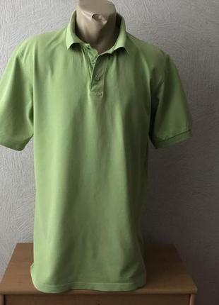 B&c светло зеленая тенниска трикотажная рубашка поло