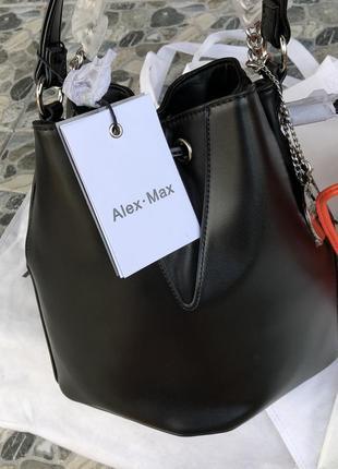 Новая сумка на плече кроссбоди италия alex max made in italy