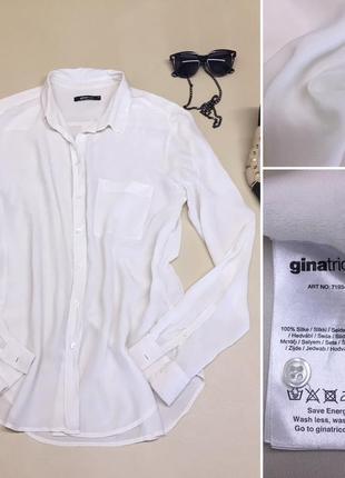 Шикарная шёлковая рубашка 100% шёлк