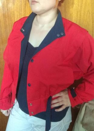 Винтаж красная курточка ветровка c&a 40