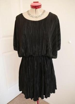 🌹🌹🌹красивое черное короткое женское вечернее, коктейльное платье 16 р. boohoo night🌹🌹🌹