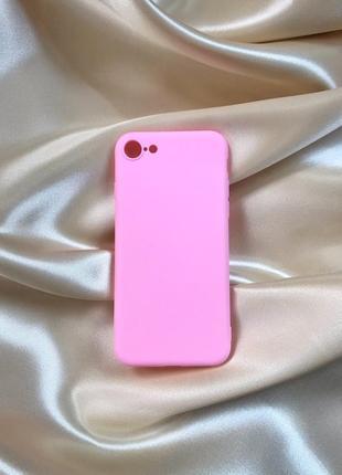 Чохол на айфон 7/8, iphone 7/8 case, розовый чехол на айфон