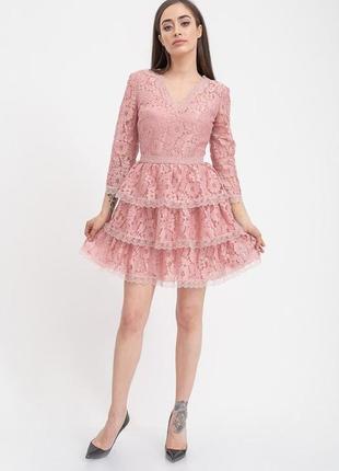 Новое нарядное вечернее шикарное кружевное платье