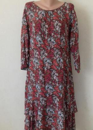 Красивое натуральное платье с принтом laura ashley