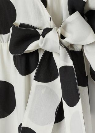 Стильное платье  сарафан в горох h&m премиум лен и хлопок оверсайз тренд сезона лето 20206 фото