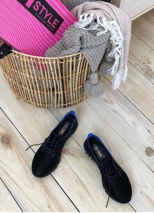Туфли женские безподкладочные из натурального бархата