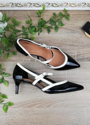 🌿39🌿европа🇪🇺 marks&spenser. красивые туфли лодочки на удобном каблучке