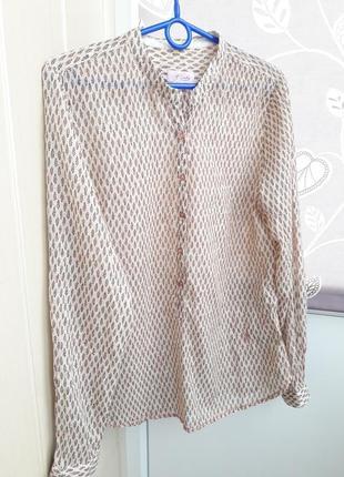 Воздушная ситцевая блуза,рубашка emily van den bergh.
