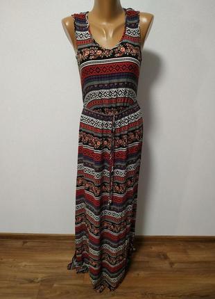 Длинное разноцветное платье / большая распродажа!