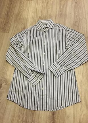 Стильная актуальная тренд zegna brioni suit supply рубашка полосатая в полоску