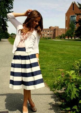 Стильная трендовая юбка плиссе солнце клеш