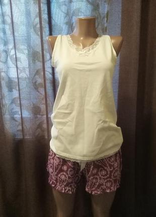 Пижама ( майка, шорты) фиолетовая