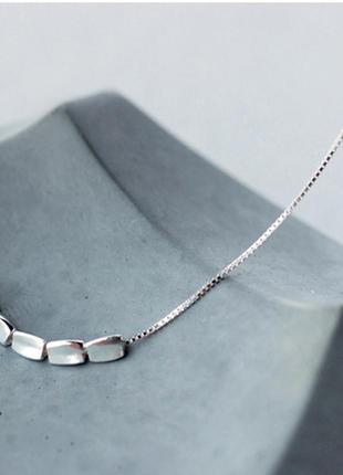 Посеребренная цепочка , цепочка с подвесками, колье,ожерелье новая