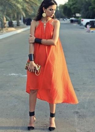 Крутое платье из эко коллекции h&m свободного кроя.