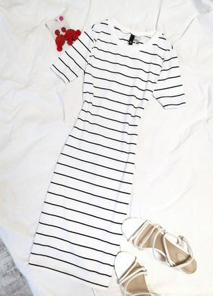 Платье в полоску по фигурке h&m