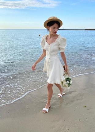 Легкое платье лен
