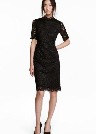 Оченьькрасивое кружевное платье от h&m