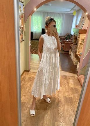 Сарафан платье прошва с карманами